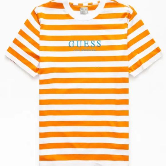 kinder verfügbar Kunden zuerst Guess Palm Stripe T-Shirt